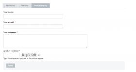 Ask a question tab via CS-Cart Product Inquiry addon
