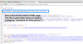 SEO titles add-on: View pages source of a product page